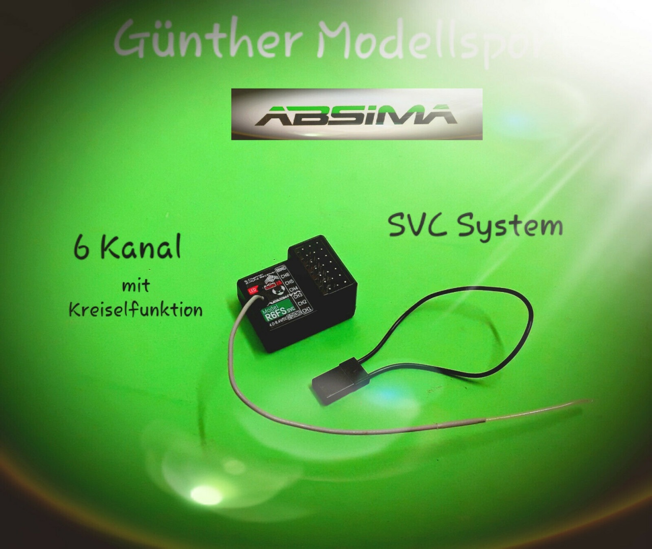 Absima 6-Kanal Empfänger R6FS SVC 2.4 GHz, 2020013