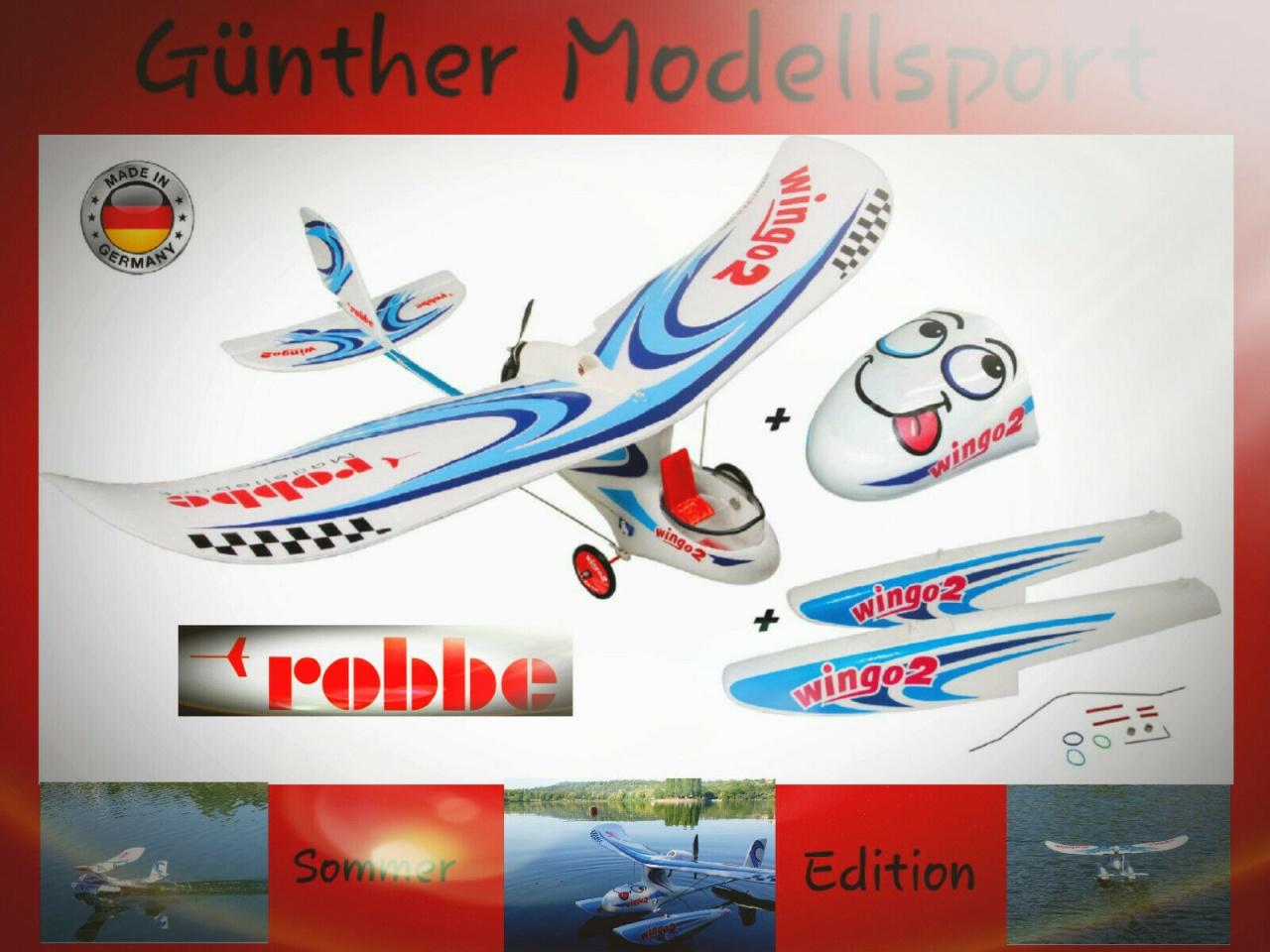 Robbe Wingo 2 Kit Summer Edition m. Schwimmer + Aero Rumpf