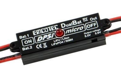 DPSI Micro DualBat 5.5V/5.9V MPX - Akkuweiche