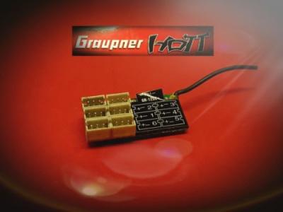 Empfänger GR-12SC+ HoTT 2.4 GHz 6 Kanal Nr.: 33566