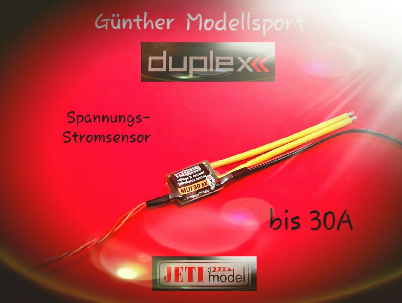 Jeti DUPLEX 2.4EX MUI 30 Spannungs/Strom-Sensor, 80001302