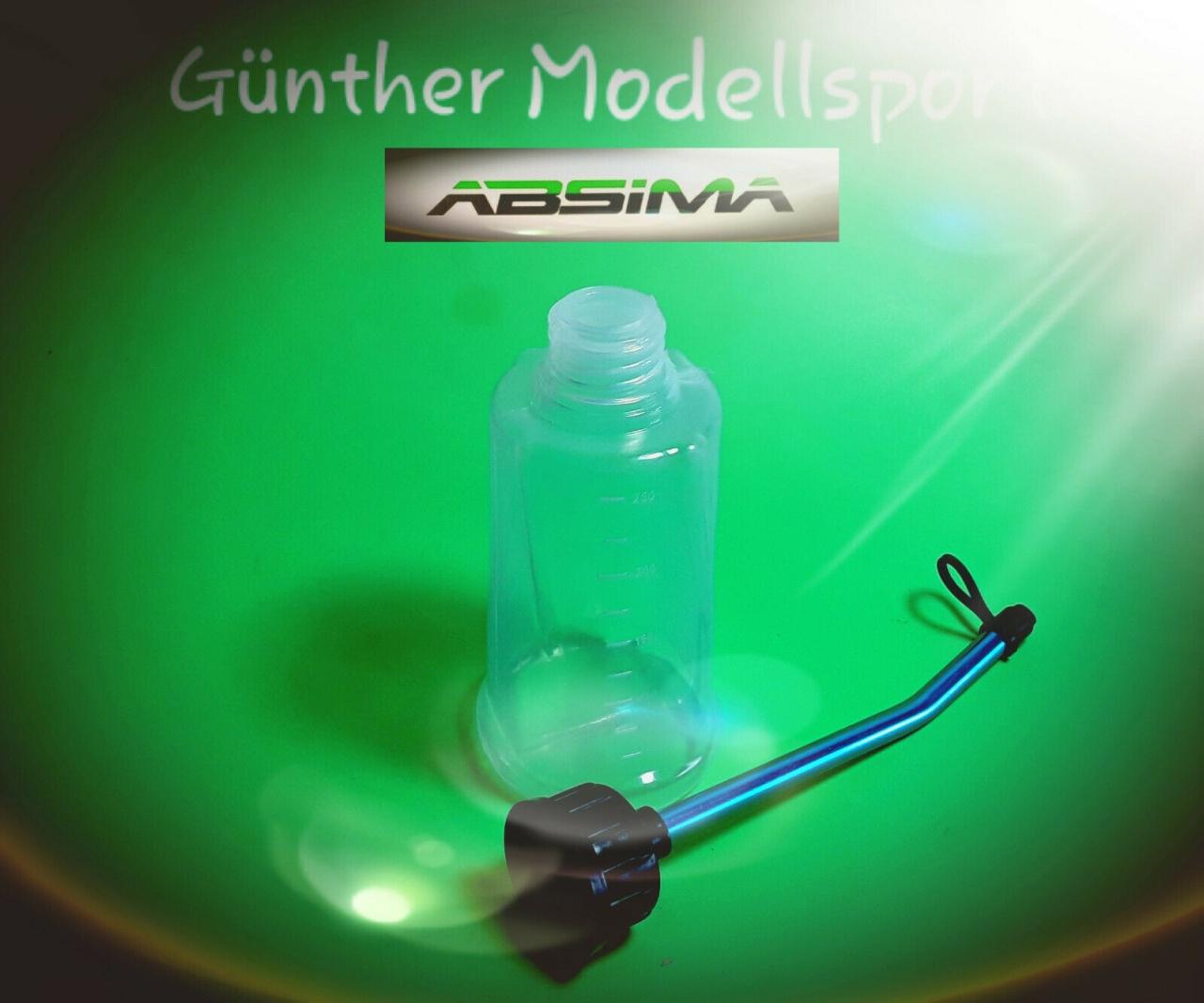Absima Tankfüllflasche 250ml Inkl. Tropfschutzkappe, 2300003