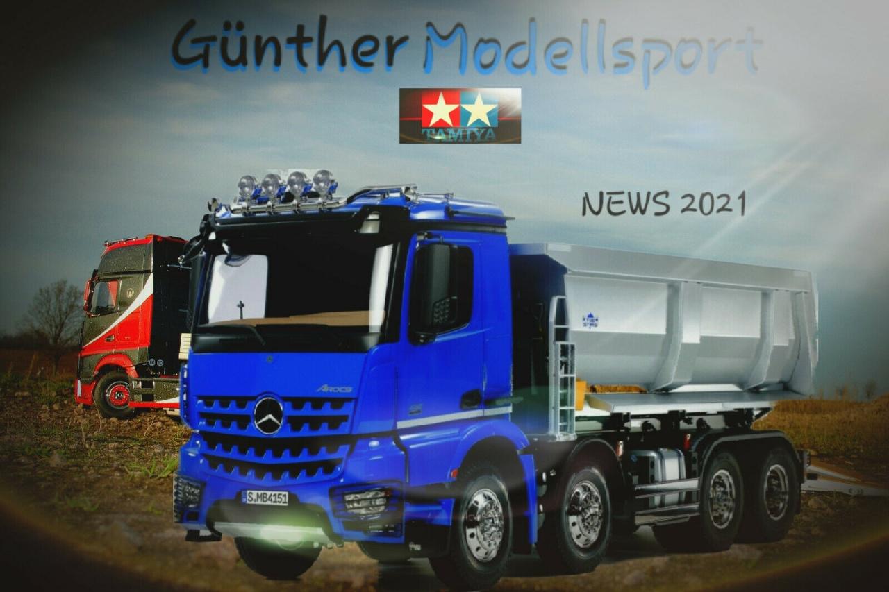 News Tamiya 1:14 RC Truck MB Arocs 4151 Kipper 8x4,300056366