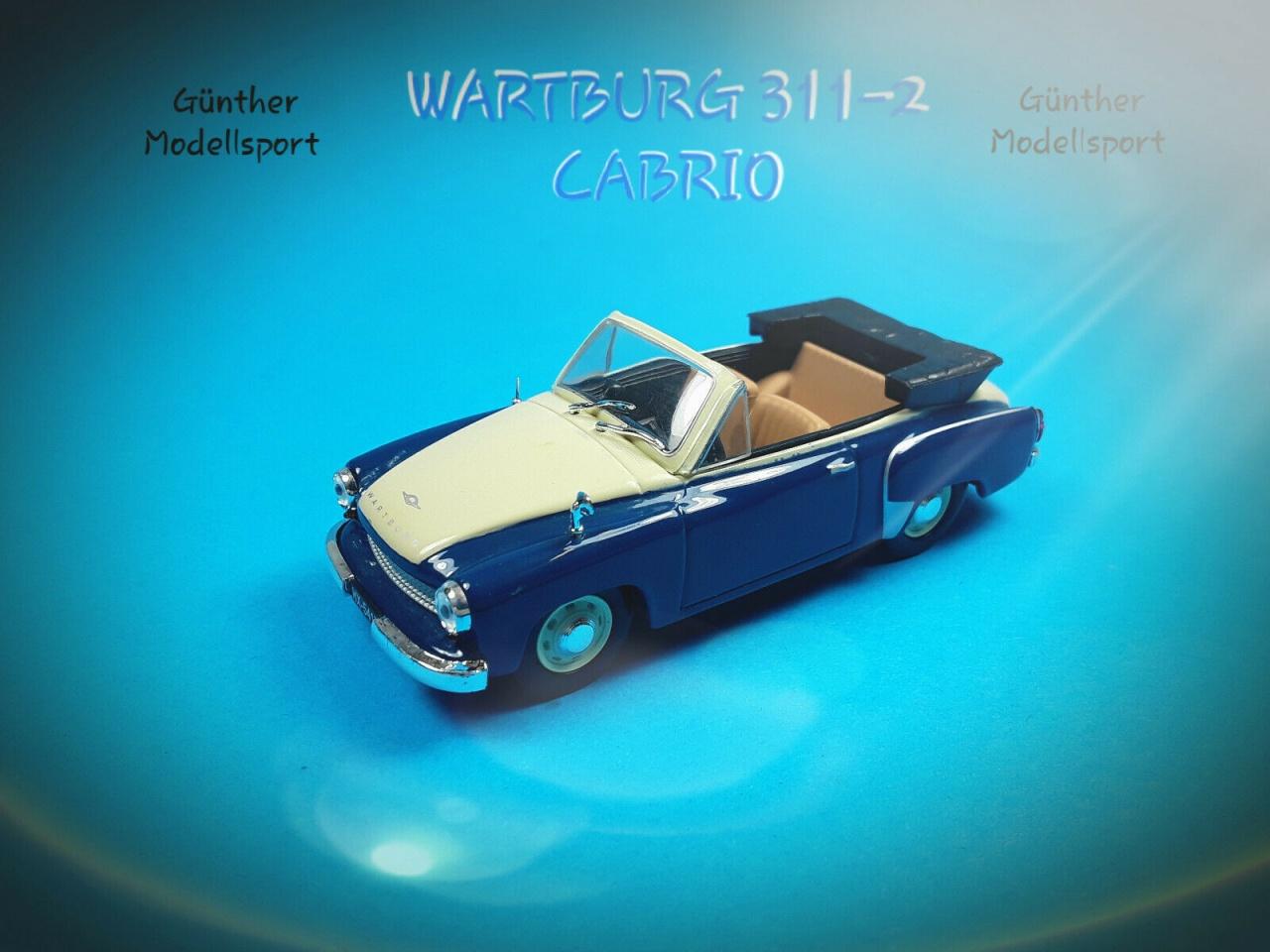 IXO-430917 Wartburg 311-2 Cabrio, Maßstab 1:43