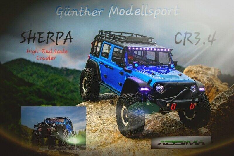 Absima 1:10 EP Crawler CR3.4 SHERPA BLAU RTR, 12012