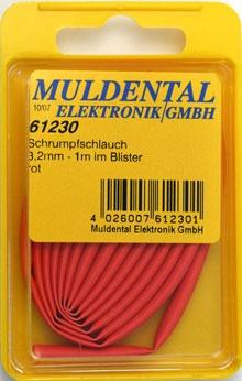 Schrumpfschlauch 6,4mm rot Blister