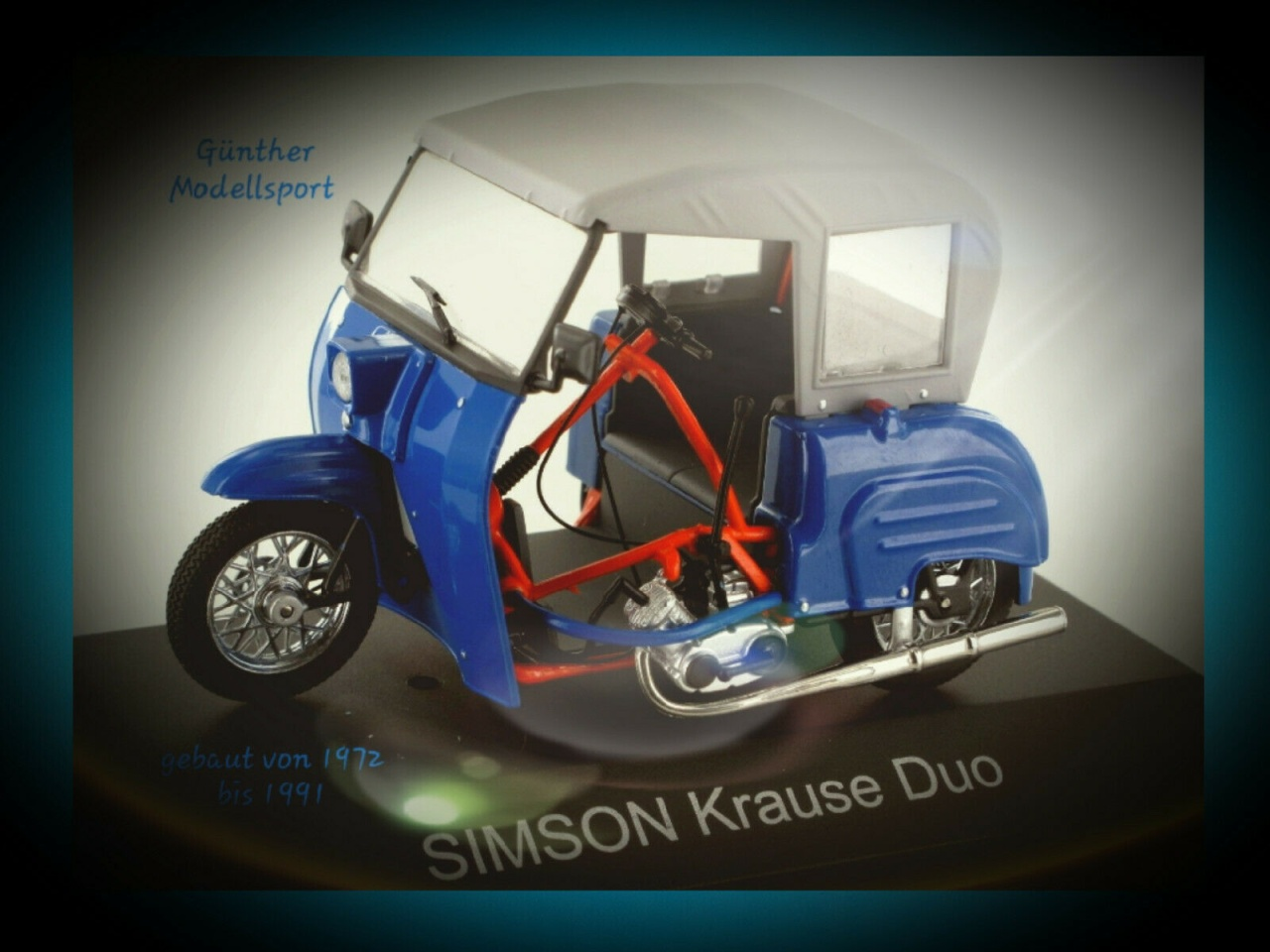 IXO-24129-B Simson Krause Duo RAL5009 - atlantikblau,1:24