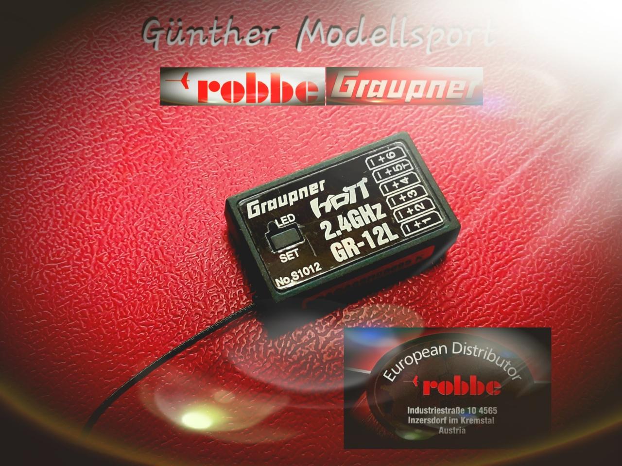Empfänger GR-12L HoTT, Graupner/robbe, S1012