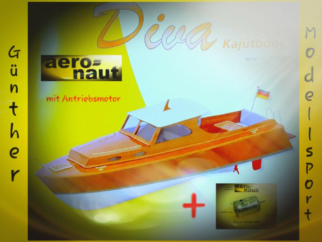 Diva Kajütboot mit Antriebs- Motor, 3093/00.M v. aeronaut