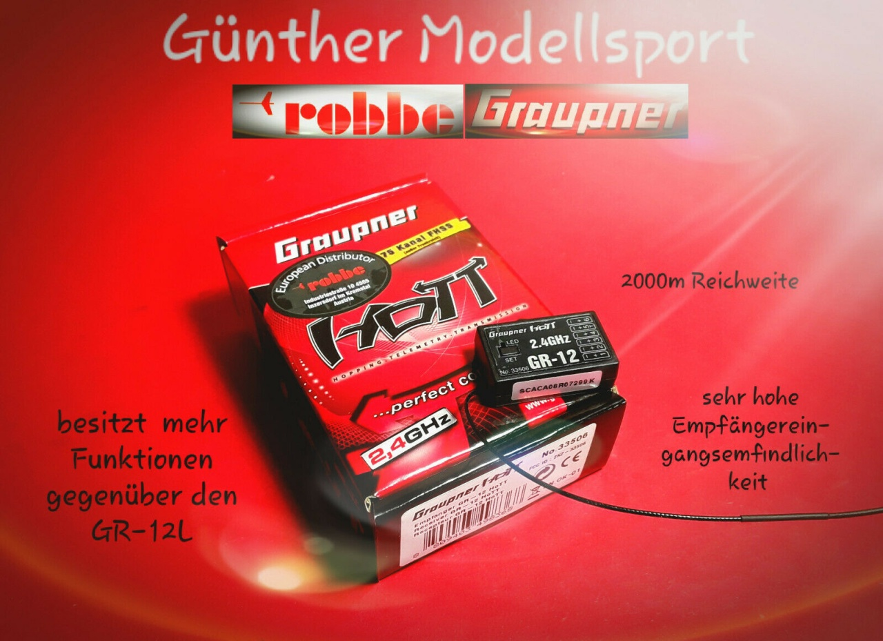 Robbe/GRAUPNER GR-12 2,4GHZ HOTT 6K EMPFÄNGER, 33506