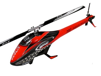 Goblin 380 Kit rot/schwarz mit Rotorblätter