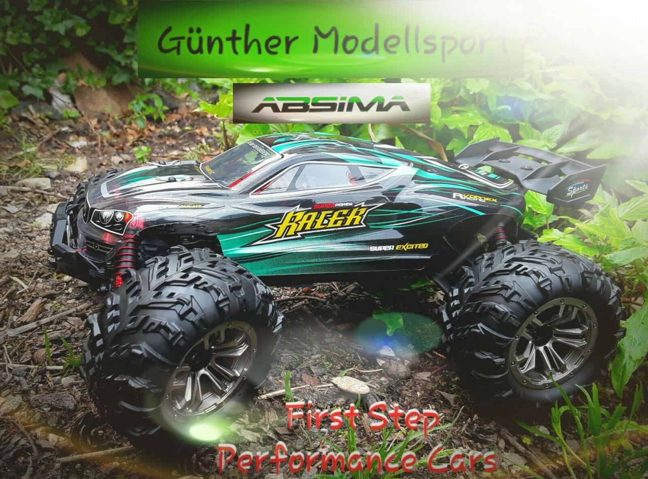 Absima 1:16 EP Truggy RACER schwarz/grün 4WD RTR, 16004