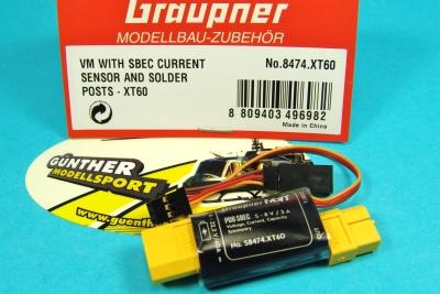 HoTT Strom-Spannungssensor 60A mit SBEC, Graupner