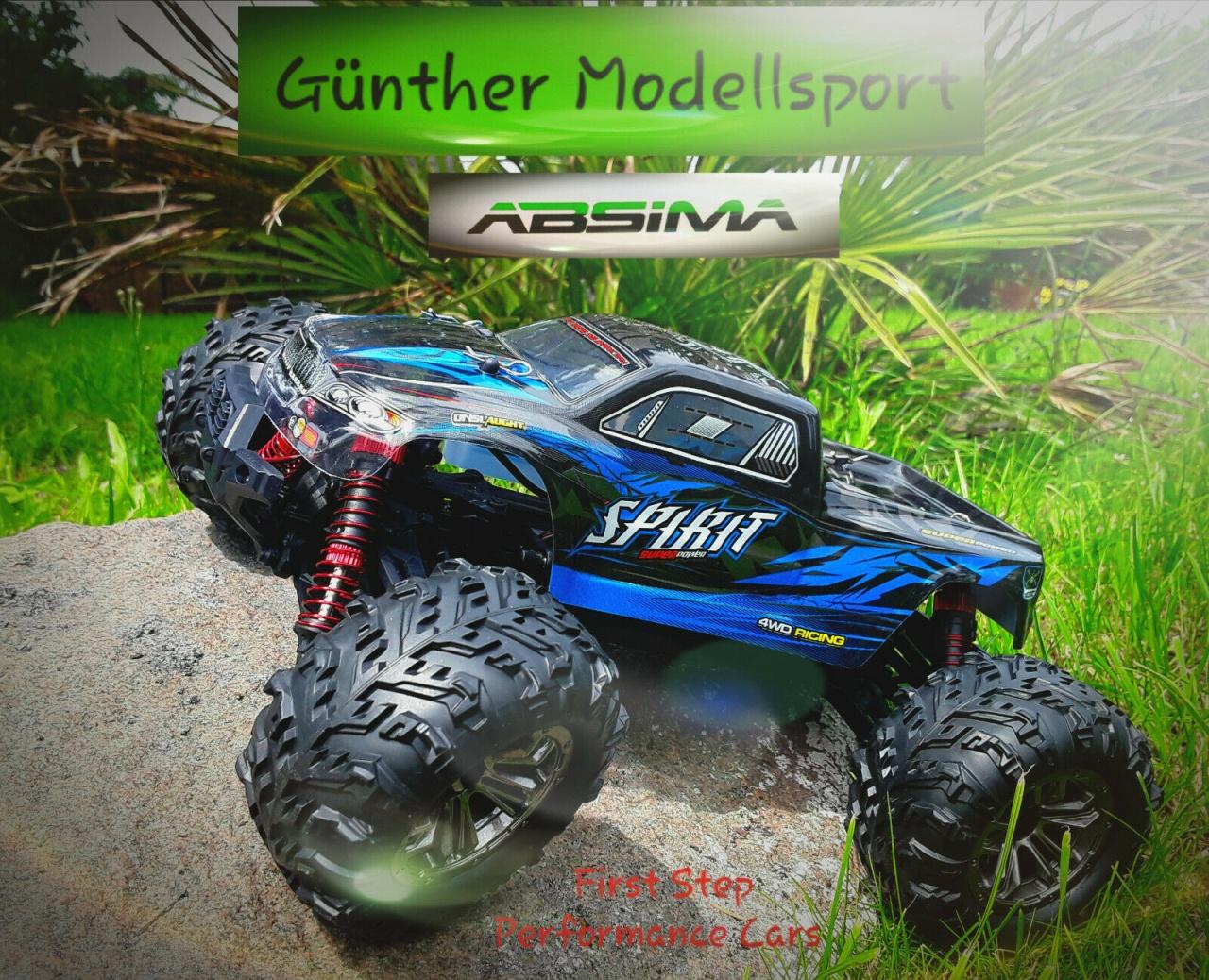 Absima 1:16 EP Monster Truck SPIRIT schwarz/blau 4WD RTR,