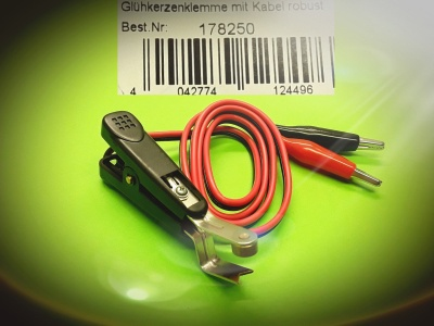 Glühkerzenklemme mit Kabel robust Best.Nr.: 178250 v. Jamara