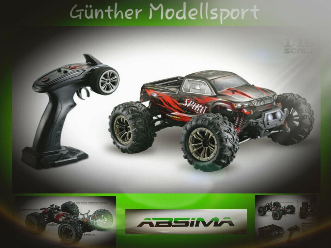 Absima 1:16 High Speed Monster Truck SPIRIT schwarz/rot