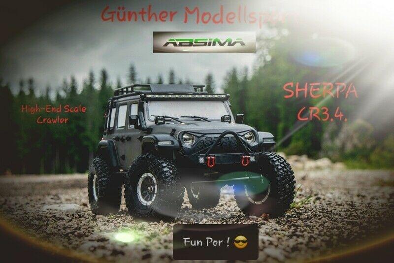 Absima 1:10 EP Crawler CR3.4. SHERPA GRAU RTR, 12011