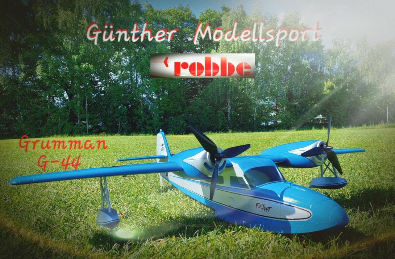 Flite Test Grumman G-44 Widgeon Wasserflugzeug PNP,