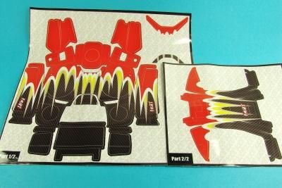 Dekorbogen mz-12 flame red yellow